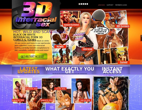 Interracial Sex 3d