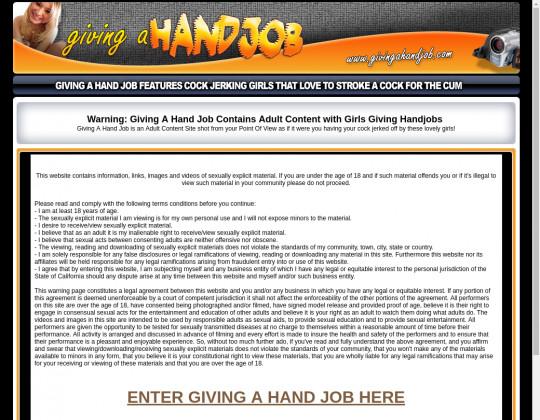 givingahandjob.com